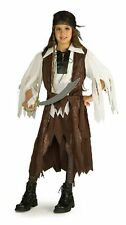 Girl CARIBBEAN PIRATE QUEEN Costume Dress Vest Scarf Small Child 4 5 6 Carribean