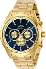 Invicta Men's Watch Specialty Quartz Chronograph Blue & Gold Tone Dial 29175