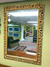 Antique Delicately Carved Gilded Framed Mirror