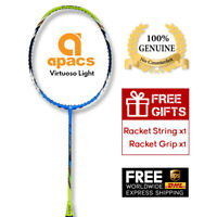 Apacs Virtuoso Light Badminton Racket New & Unstrung (6U G2) Free String & Grip