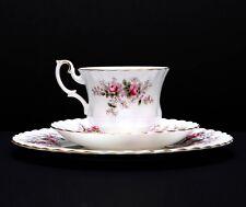 3-Piece Set - Beautiful Royal Albert Lavender Rose Trio Cup Saucer Salad Dessert