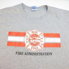 BGSU BOWLING GREEN STATE UNIVERSITY FIAD FIRE ADMIN FIREMAN TEE T SHIRT Sz XL