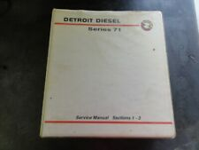 Detroit Diesel Series 71 Service Manual    Sections 1-3