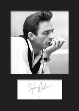 JOHNNY CASH #1 A5 Signed Mounted Photo Print - FREE DELIVERY