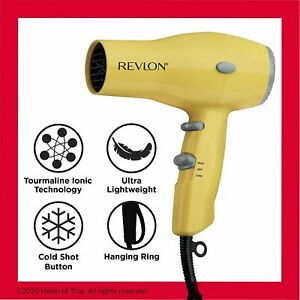 Revlon Professional Hair Blow Dryer Ionic 1875W Small Compact Travel Hair Blower
