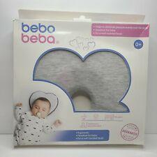 Newborn Baby Pillow Heart Shaped Memory Foam Cushion for Flat Head Suppprt -Grey