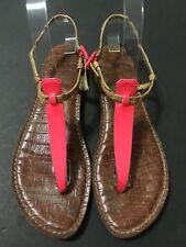 564514c38f3bc Sam Edelman Gigi Thong T Strap Sandals Hot Pink Neon   Cork Women s Size ...