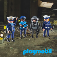 Playmobil Police Boss, Police Men and Police Woman x 4 Figures City Action