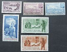 6 Vichy stamps ( no Rf ) from St Pierre & Miquelon Spm Mh Cv £27+