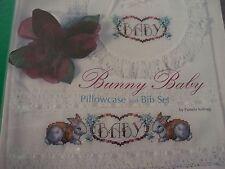 Baby Bunny Bib Towel RIBBAND Nursery OOP Magazine Cross Stitch PATTERN (Y)