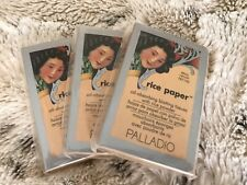 Lot of 3 Palladio Rice Paper Oil Blotting Tissues - Natural, 40 sheets each pack