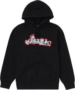 Supreme Handstyle Hooded Sweatshirt Black XL Graffiti Hoodie NEW IN HAND RARE