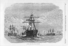1870 FRANCO GERMAN WAR French IRONCLAD FLEET Heligoland Battle Ship (092)