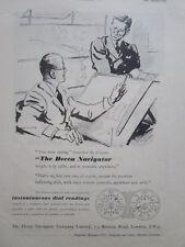 5/1946 PUB DECCA NAVIGATOR NAVIGATIONAL SYSTEM DECOMETER ORIGINAL AD