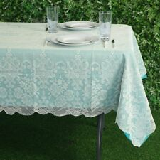 IVORY 60x90 RECTANGLE Floral LACE TABLECLOTH Wedding Party Catering Kitchen SALE