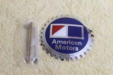 Chrome Plated AMC American Motors Grille Badge Emblem Accessory License Topper