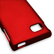 Red Case For LG Optimus F3 MS659 Hard Rubberized Snap On Phone Cover
