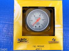Auto Meter 4311 Ultra Lite Pro Comp  Mechanical Fuel Presure Gauge 0-15 PSI