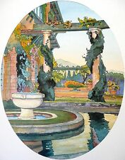 L'ARNAGA Edmond ROSTAND Aquarelle Dessin FRENCH Architecture BASQUE ART DECO E.O
