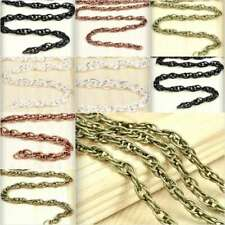 2/4m Unfinished Woven Curb Chain Bulk Craft Jewelry Necklace Findings DIY YB