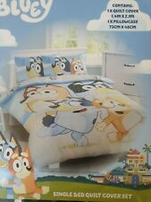 Bluey Family Quilt Cover Set Single Bed Reversible Duvet Doona