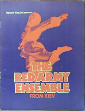 More details for the red army ensemble from kiev maurice king ltd. presents programme 1970's