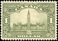 1929 Mint H Canada F-VF Scott #159 $1.00 King George V Scroll Stamp