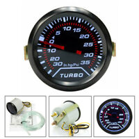 2″ 52mm Black Ring/Bezel Car White LED Digital Turbo Boost Meter Gauge Universal