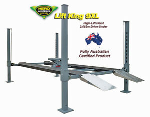 4 Post 'High-Lift' Movable Car Lift / Lift King 9XL Auto Service & Storage Hoist