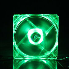 1Pcs Green 4-Pin LED Neon Light 80mm 25mm Computer CPU GPU DC Cooling Case Fan