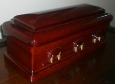 Mini Casket Wine Case/Cremation Urn - NEW, never used