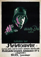 2W5 Vintage WWI German Join The Reichswehr Recruitment War Poster WW1 Print A4