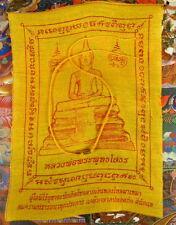 YANTRA TAKRUT YELLOW CORD SAI SIN BUDDHIST BRACELET + Buddhist Monk +PHA YANT