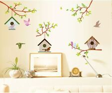 Tree branch bird cage large wall stickers Decal Removable Decor Home Nursery AU