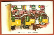 Carte Postale - Debout ! c'est l'heure ! - illustrateur Naef - Réf.A41