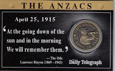 CARDED DAILY TELEGRAPH ANZAC DAY MEDALLION