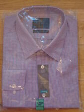 Polyester Check Button Cuff Long Formal Shirts for Men