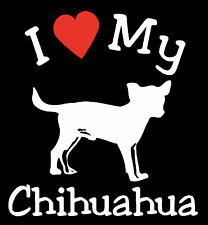 Pair of I Love My Dog CHIHUAHUA Pet Car Decals Stickers Ready to Apply
