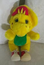 "BARNEY AND FRIENDS BJ  PLUSH YELLOW DINOSAUR LYONS  GROUP  13"" PLUSH  1994"
