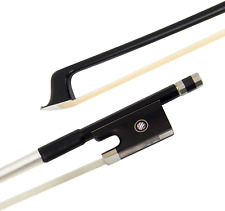 Violin Bow Stunning Bow Carbon Fiber for Violins 4/4, Black