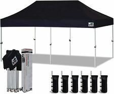 10X20 Ez Pop Up Canopy Commercial Instant Party Weeding Tent W/ Wheeled Bag