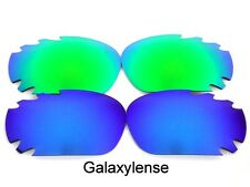 Galaxy Replacement Lenses For Oakley Racing Jacket Blue&Green Polarized 2Pairs