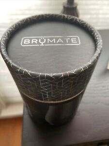 BrüMate NOS'R double-wall stainless steel whiskey nosing glass 7oz Matte Blk NIB
