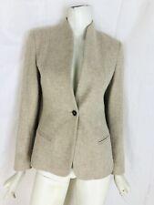 MAX MARA size 6 beige cashmere jacket blazer