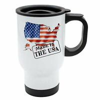Made In USA Thermal Travel Mug - White Stainless Steel