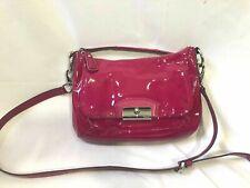 COACH 19300 patent leather Kristin hobo shoulder bag Raspberry