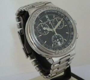 Baume & Mercier Formula S. Gents Chronograph. Swiss watch. Black dial.