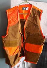 SafTbak Canvas Orange Mens Large Bird Hunting Hunter Vest - Adult