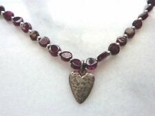 Silver Corded Necklace N1898 Silpada Garnet and Sterling