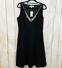 Forth & Towne Little Black Dress 12 Sleeveless V Neck Sequins Party NWT $198